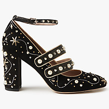 Buy Sam Edelman Semor Embellished Block Heeled Court Shoes, Black Online at johnlewis.com