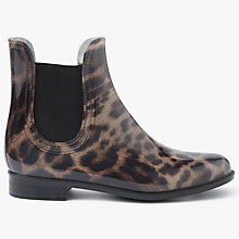 Buy John Lewis Patti Chelsea Wellington Boots, Animal Print Online at johnlewis.com
