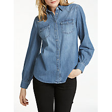Buy AND/OR Denim Shirt, Blue Online at johnlewis.com