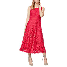 Buy Mint Velvet Lace Full Dress, Pink Online at johnlewis.com