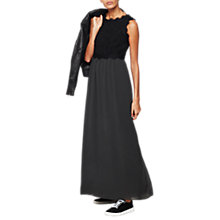 Buy Mint Velvet Corded Lace Maxi Dress, Dark Green Online at johnlewis.com