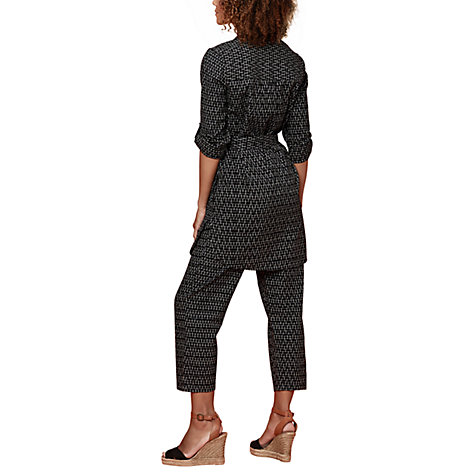 Buy East Ikat Cropped Trouser, Black/White Online at johnlewis.com