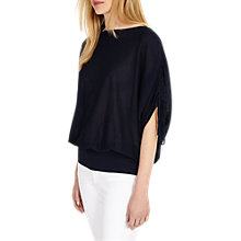 Buy Phase Eight Bailey Blouson Knit Jumper, Navy Online at johnlewis.com