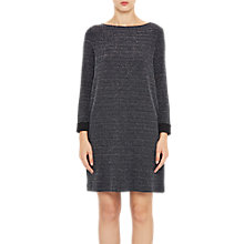 Buy French Connection Louna Jersey Long Sleeve Dress, Black Online at johnlewis.com