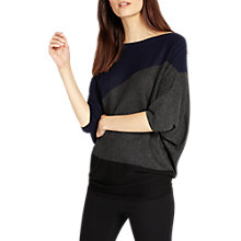 Buy Phase Eight Becca Diagonal Block Jumper, Navy/Multi Online at johnlewis.com