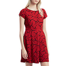 Buy French Connection Rosalind Drape Dress, Cranberry Crunch Online at johnlewis.com
