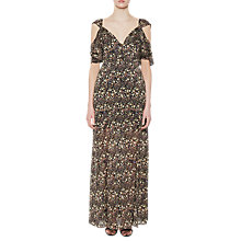 Buy French Connection Hallie Cutout Shoulder Maxi Dress, Black/Multi Online at johnlewis.com