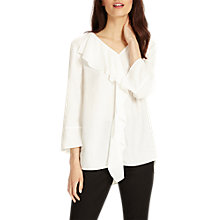 Buy Phase Eight Frill Lenia Blouse, Ivory Online at johnlewis.com