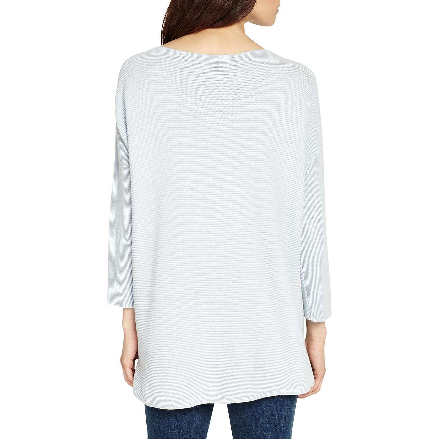 BuyPhase Eight Plain Piera Ripple Stretch Knit Jumper, Soft Blue, XS Online at johnlewis.com