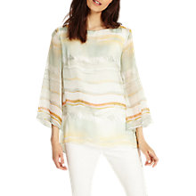 Buy Phase Eight Eliza Stripe Silk Blouse, Multi Online at johnlewis.com