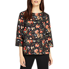 Buy Phase Eight Rose Print Blouse, Multi Online at johnlewis.com