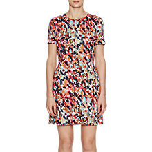 Buy French Connection Eleanor Stretch Short Sleeve Dress, Redwood Online at johnlewis.com
