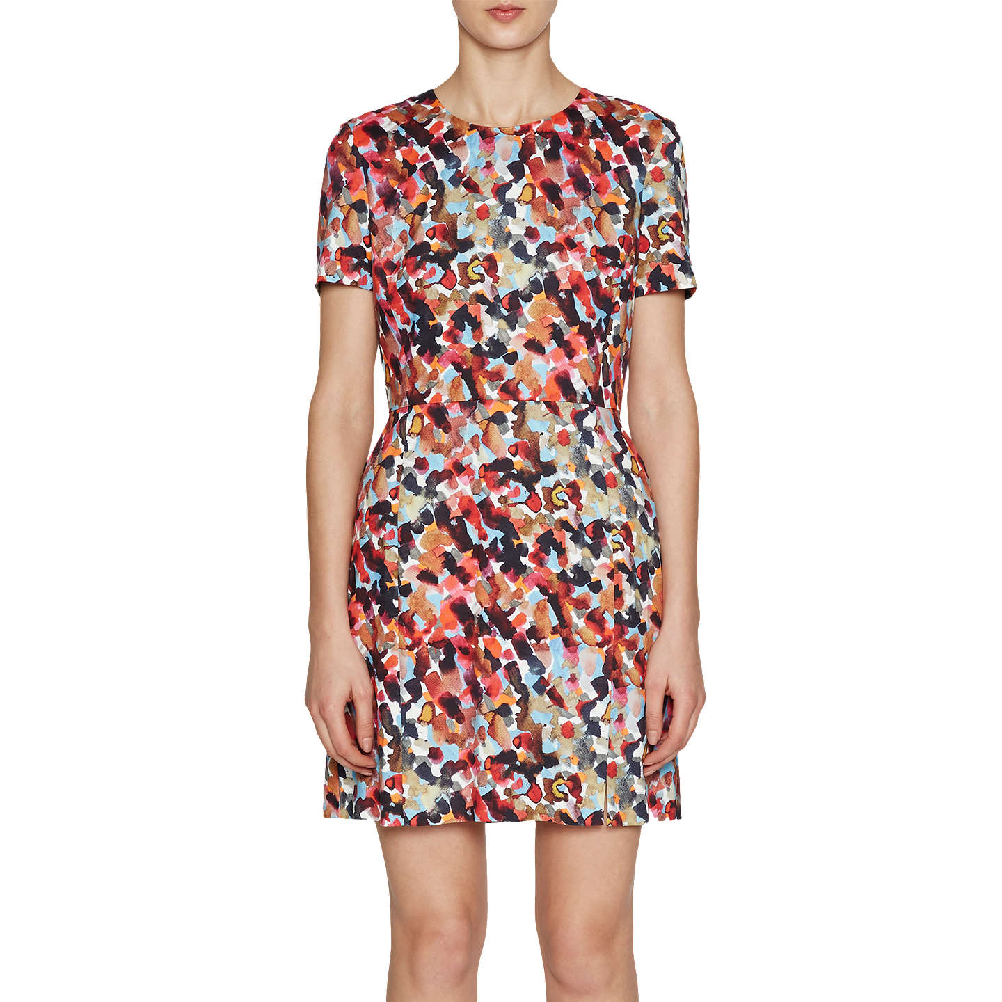 French Connection Eleanor Stretch Short Sleeve Dress, Redwood by French Connection
