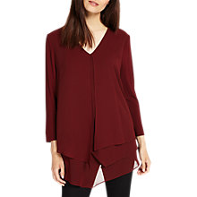 Buy Phase Eight Lenia Layered Blouse, Brick Online at johnlewis.com