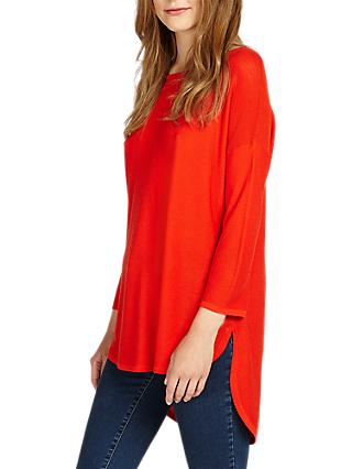 Phase Eight Megg Curve Hem Jumper, Military Red