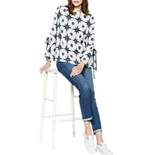Buy Mint Velvet Fluted Sleeve Blouse, Multi Online at johnlewis.com