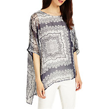 Buy Phase Eight Paisley Print Blouse, Multi/Grey Online at johnlewis.com