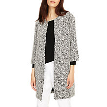 Buy Phase Eight Jan Jacquard Coatigan, Black/White Online at johnlewis.com