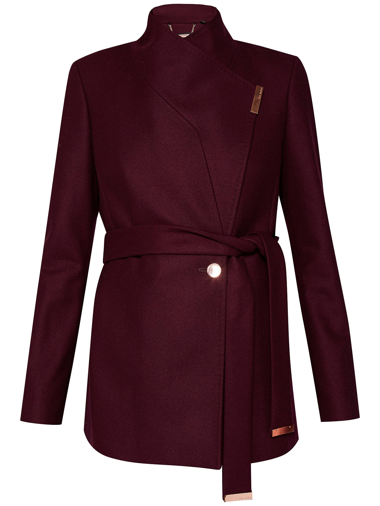 buy good genuine shoes save up to 80% Ted Baker Keyla Short Wrap Coat at John Lewis & Partners