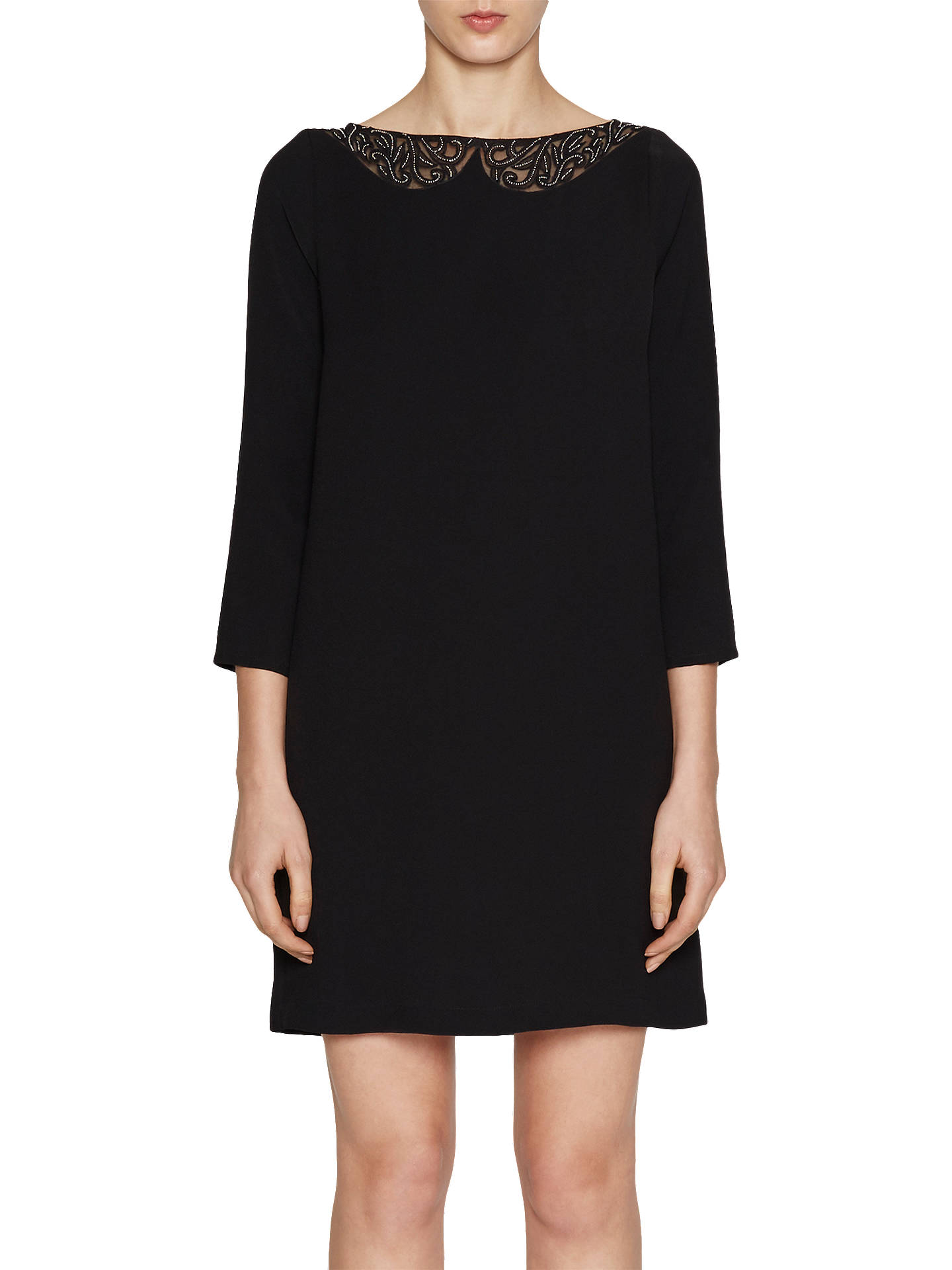 32aa5674450 Buy French Connection Eliza Crepe Tunic Dress, Black, 6 Online at  johnlewis.com ...