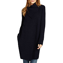 Buy Phase Eight Belen Jacquard Knitted Coat, Navy Online at johnlewis.com