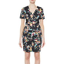 Buy French Connection Delphine Cotton V-Neck Dress, Black/Multi Online at johnlewis.com