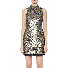 Buy French Connection Sparkle Sleeveless Halterneck Dress, Moon Rock Online at johnlewis.com