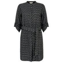 Buy East Ikat Belt Detail Tunic, Black Online at johnlewis.com