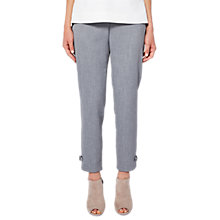 Buy Ted Baker Nadaet Bow Detail Textured Trousers, Mid Grey Online at johnlewis.com