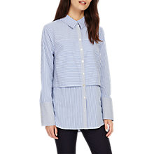 Buy Phase Eight Verity Stripe Shirt, Multi/Blue Online at johnlewis.com