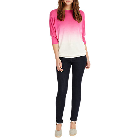Buy Phase Eight Becca Dip Dye Jumper, Hot Pink Online at johnlewis.com