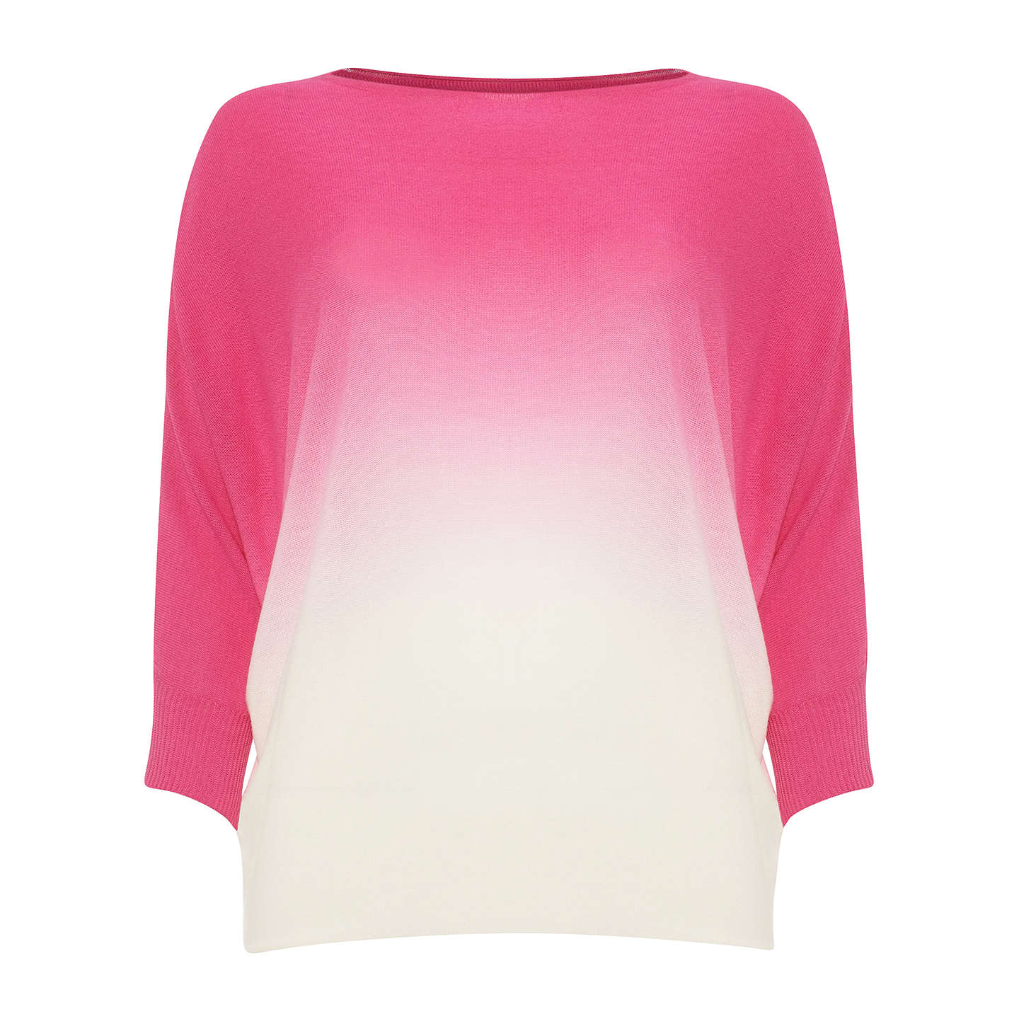 BuyPhase Eight Becca Dip Dye Jumper, Hot pink, XS Online at johnlewis.com