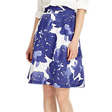 Buy Phase Eight Isla Linen Blend Leaf Print Skirt, Multi Online at johnlewis.com