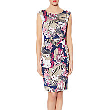 Buy Gina Bacconi Saskia Floral Dress, Pink/Multi Online at johnlewis.com