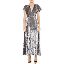 Buy French Connection Aurore Velvet V-Neck Maxi Dress, Smokey Online at johnlewis.com