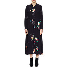 Buy French Connection Delphine Drape Shirt Dress, Utility Blue/Multi Online at johnlewis.com