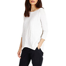 Buy Phase Eight Alecia Textured Knit Jumper, White Online at johnlewis.com