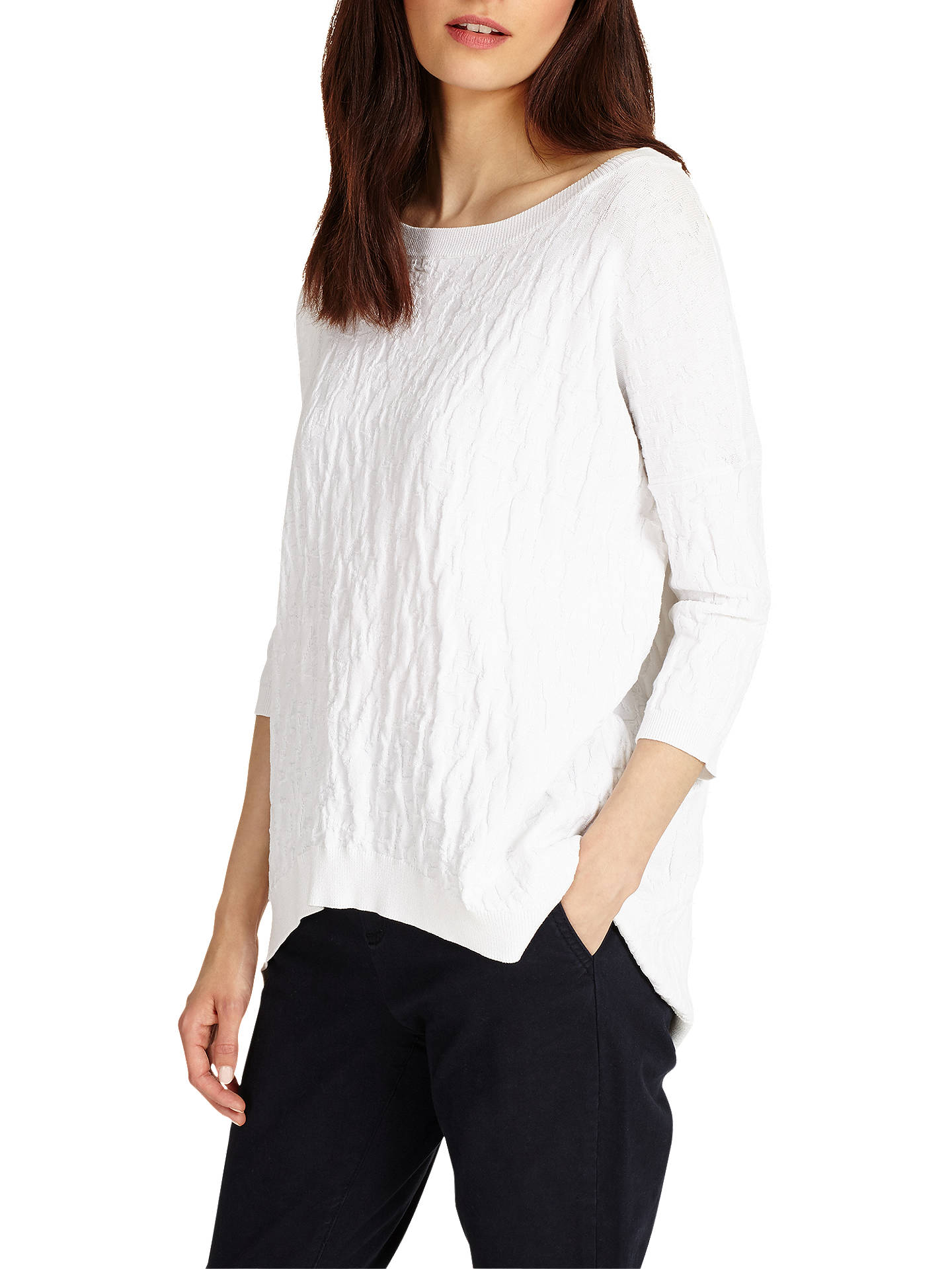 BuyPhase Eight Alecia Textured Knit Jumper, White, XS Online at johnlewis.com