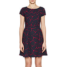 Buy French Connection Rosalind Fit And Flare Dress, Utlity Blue Online at johnlewis.com