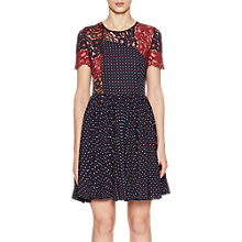 Buy French Connection Phoebe Round Neck Dress, Navy/Multi Online at johnlewis.com