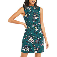 Buy Oasis Rosie Lynn Print Textured Shift Dress, Teal Online at johnlewis.com