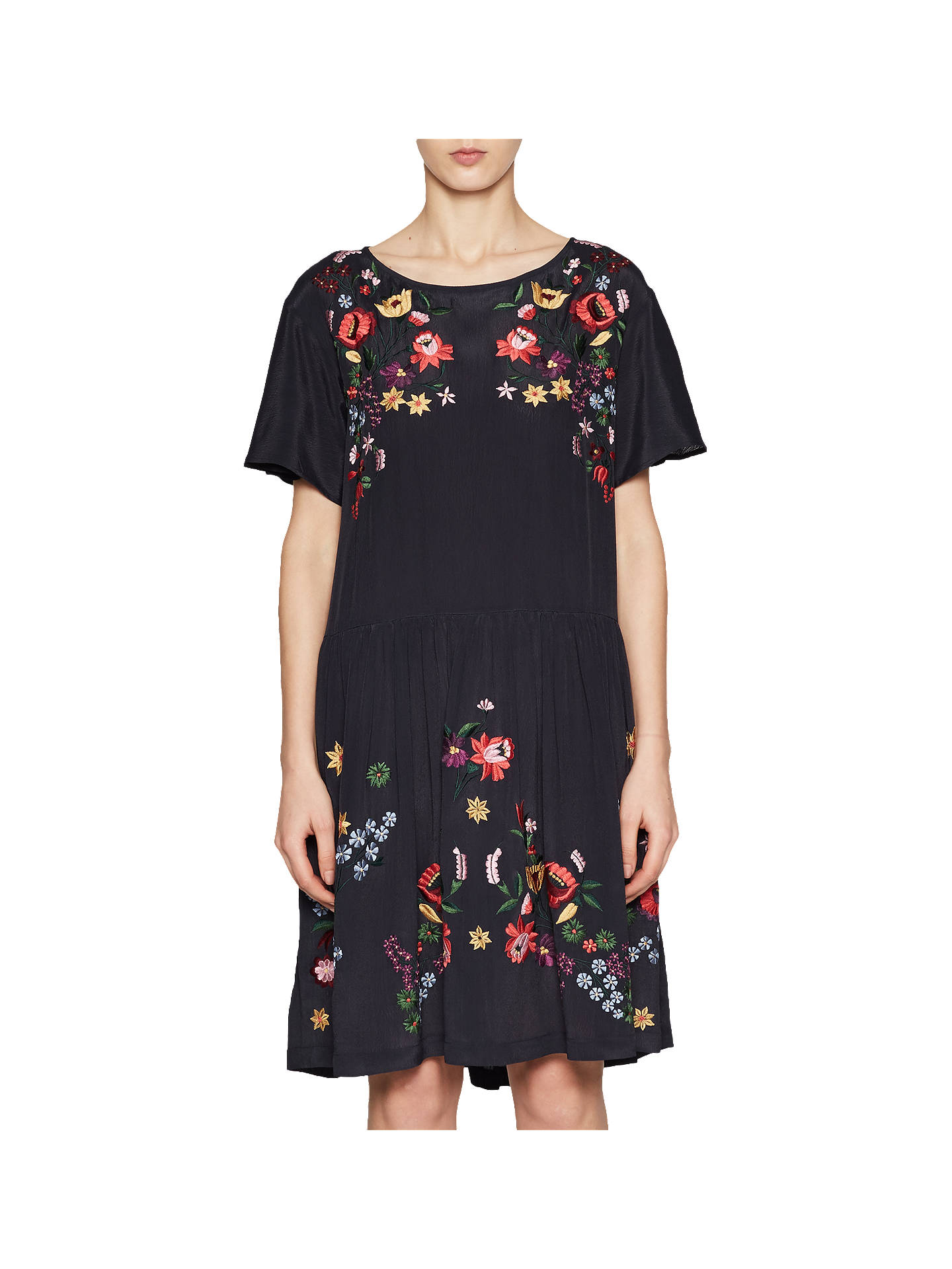 f066511bb5e Buy French Connection Alice Drape Drop Waist Dress, Utility Blue, 6 Online  at johnlewis ...