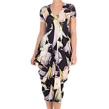 Buy Chesca Lily Rose Print Jersey Dress, Black/Multi Online at johnlewis.com