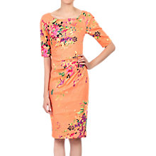 Buy Jolie Moi Floral Print Half Sleeved Shift Dress, Coral Online at johnlewis.com