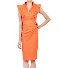 Buy Jolie Moi Frill Shoulder Bodycon Dress, Coral Online at johnlewis.com