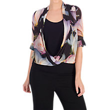 Buy Chesca Lily and Rose Print Top, Black/Multi Online at johnlewis.com