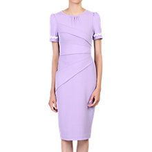 Buy Jolie Moi Lace Trimmed Fold Detail Dress, Lavender Online at johnlewis.com