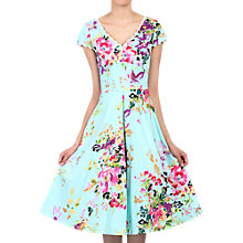 Buy Jolie Moi Floral Print Dress, Green/Multi Online at johnlewis.com