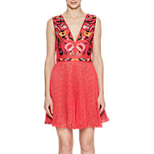 Buy French Connection Alice Lace V Neck Dress, Watermelon/Multi Online at johnlewis.com