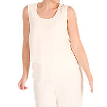 Buy Chesca Wrap Back Layered Chiffon Top, Blonde Pink Online at johnlewis.com